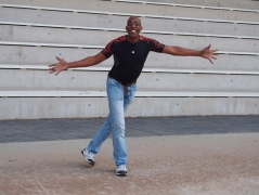 Couldn't help but act out in the amphitheater