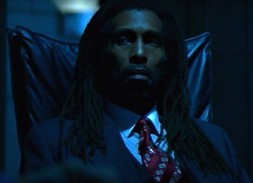 "Shot of me from the movie ""Blade."""